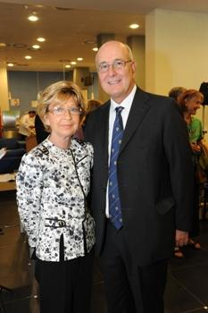 Mrs. Peggy Spiegel with President Franco Pavoncello