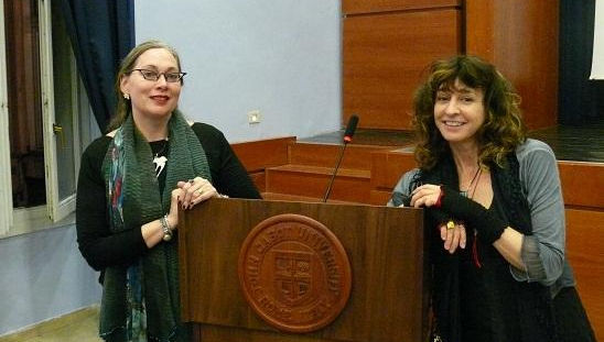 Kim Addonizio (pictured right) and professor of English Moira Egan