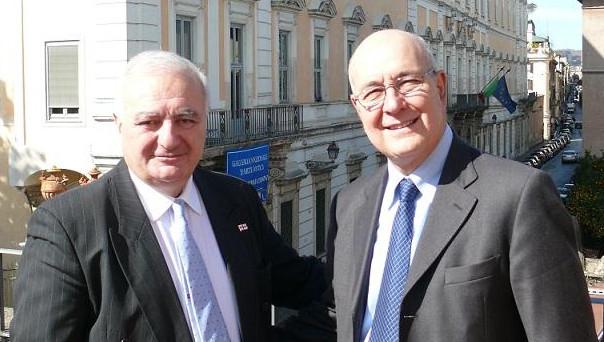 President Pavoncello Welcomes Ambassador of Georgia Dr. Konstantin Gabashvili
