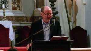 Billy Collins during the reading