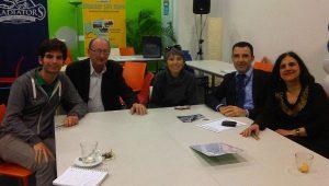 From left to right: JCU student Alessandro Petrucci, Prof. Tom Govero, Dr. Francesca Gleason, Mr. Edoardo Secchi, Prof. Corrada Biazzo Curry
