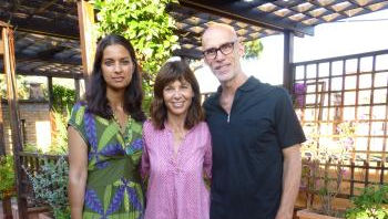 From left: Jhumpa Lahiri, Francesca Marciano, George Minot