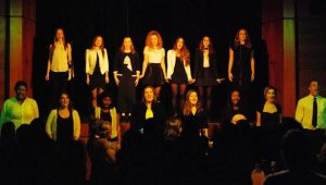 """The cast of """"Musical Mash-Up"""" performed for Thanksgiving at JCU"""