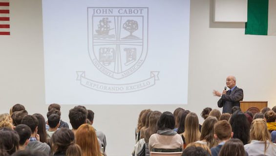 Over 100 students from Europe and the U.S. attend John Cabot's Open House