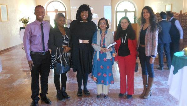"""The Students delegation attends the """"Cerimonia Premio Nobel per la Pace 2014 a Malala Yousafzai"""""""