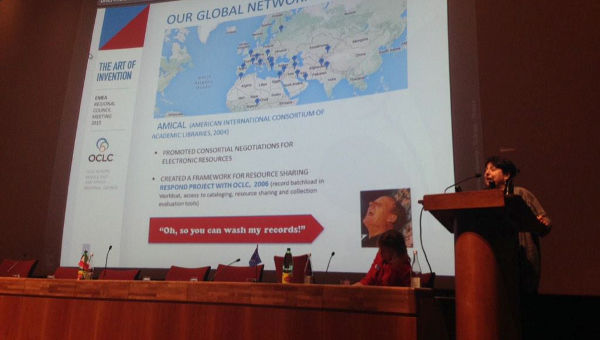 Head Librarian Elisabetta Morani Gives Presentation at Conference Organized by World's Largest Library Cooperative
