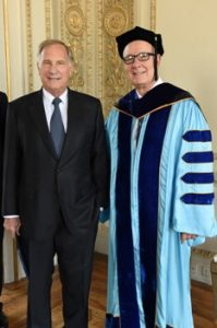 Ambassador Phillips (left) and President Pavoncello