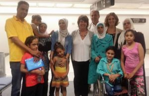 Palestinian families in Rome for medical treatment
