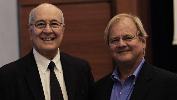 President Franco Pavoncello (left) with Dr. James A. Kushlan