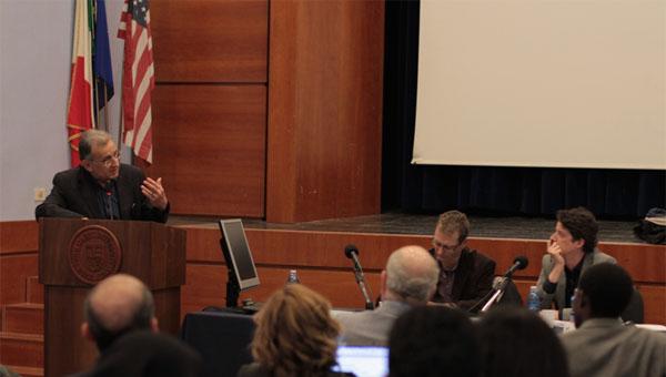 Alessandro Ferrara presenting his book