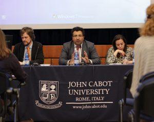 Professors Michael Driessen, Pejman Abdolmohammadi, and Fatima El Issawi