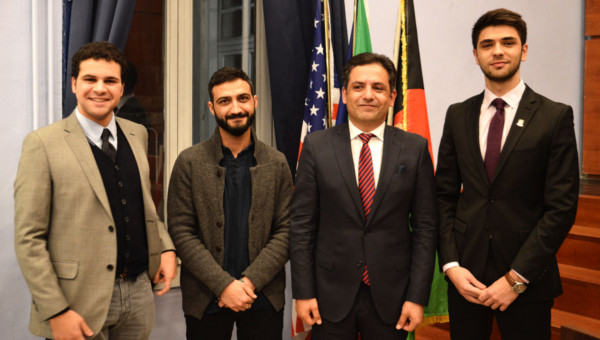 Waheed Omar, Afghanistan's Ambassador to Italy, Visits JCU
