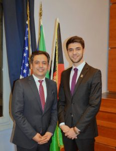 Waheed Omar, Afghanistan's Ambassador to Italy (left) and IR Society President Mihail Iotov