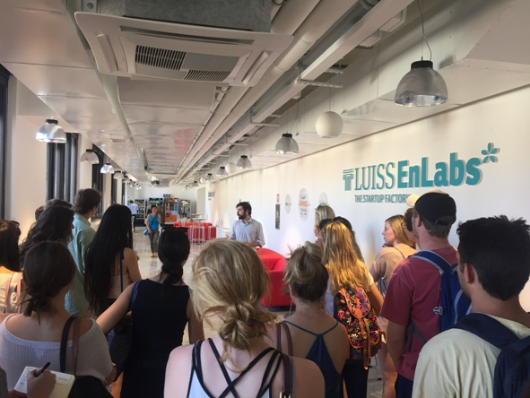 JCU students visit LUISS ENLABS Startup Accelerator