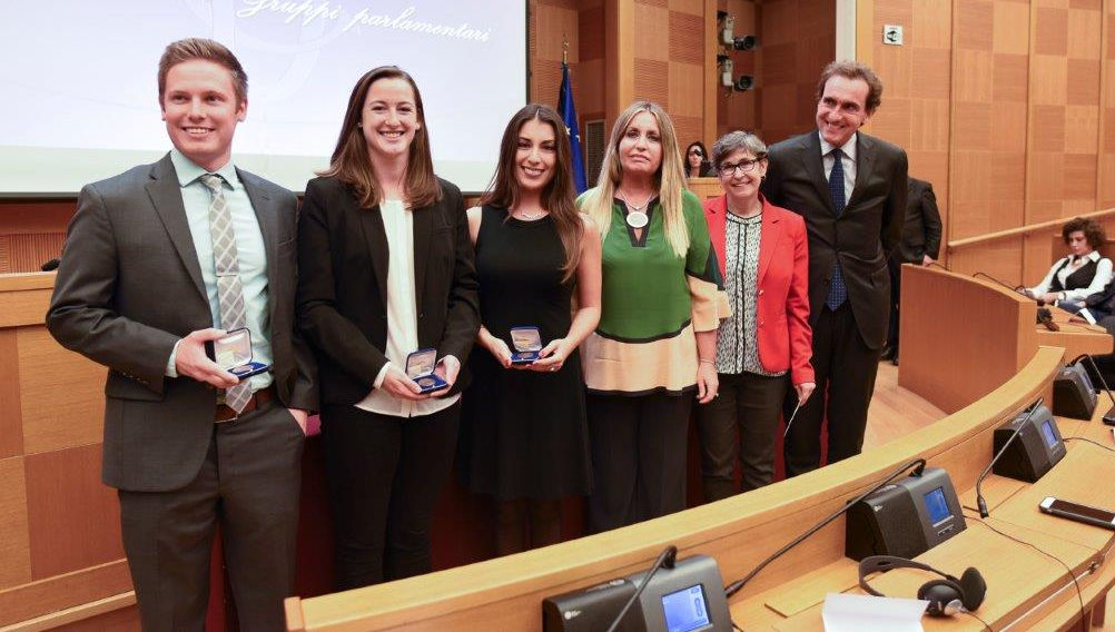 JCU Students Honored at the Italian Parliament by Italy-USA Foundation