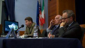 """Left to right: Daniel Drezner, author of """"The Ideas Industry,"""" Professor Federigo Argentieri and Ambassador Armando Barucco"""