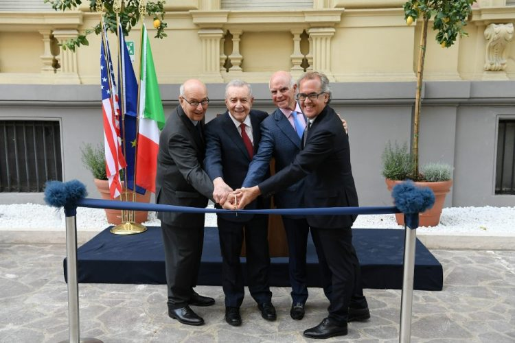 President Franco Pavoncello, the Hon. Frank J. Guarini, Chair Sal Salibello, Mr. Francesco Ruspoli