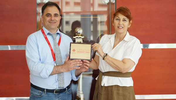 Prof. Fabrizio Conti at the Canadian University ion Dubai