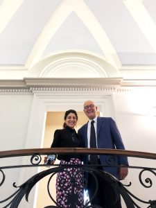 Hiram President Lori Varlotta and JCU President Franco Pavoncello