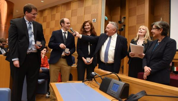 Four JCU Students Honored at Italian Parliament by Italy-USA Foundation