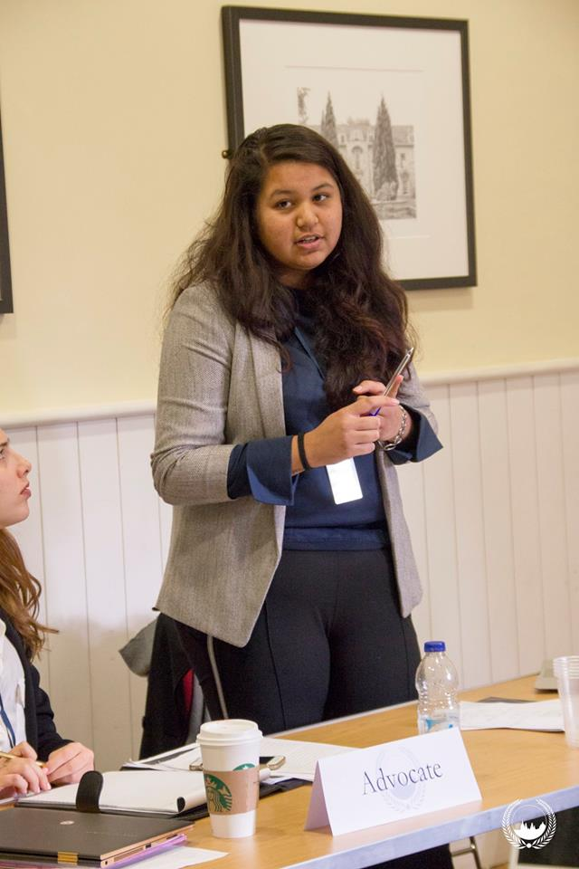 Isha Mandal at the Oxford International Model United Nations