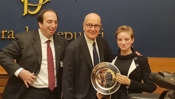 JCU Student Bebe Vio Receives Innovation Leader Award at Italian Parliament