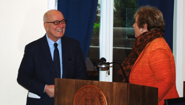 President Pavoncello with Vera P. Will-Halle