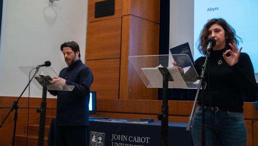 JCU Welcomes Slam Poets Tania Haberland and Dome Bulfaro