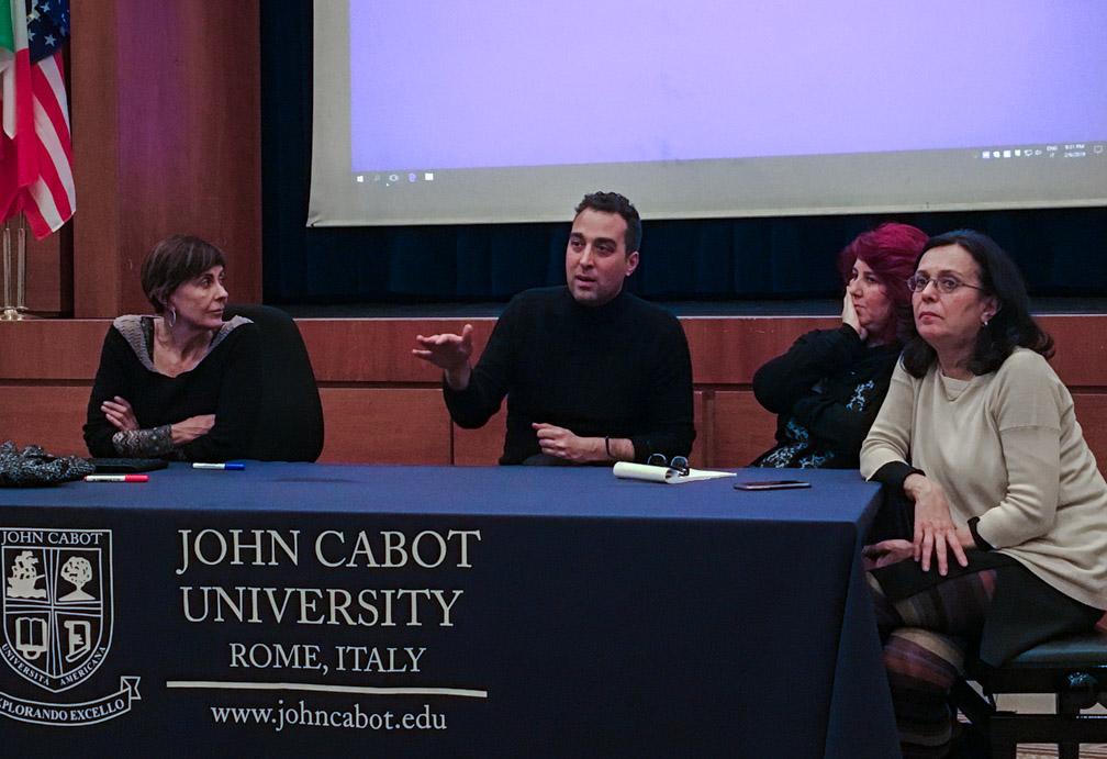 From left: Federica Capoferri, Raffaele Passerini, Erika Tasini, Carolina Ciampaglia