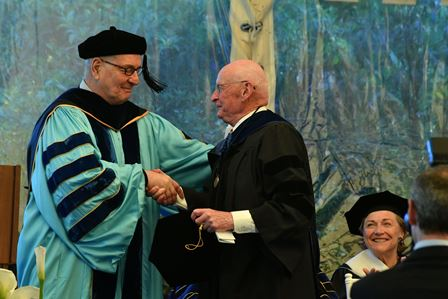 From left: President Pavoncello and Dr. Eric Nummela
