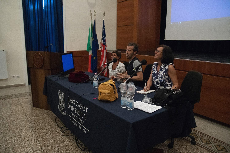 From left: Professor Federica Capoferri, Director Alessio Cremonini and Professor Carolina Ciampaglia