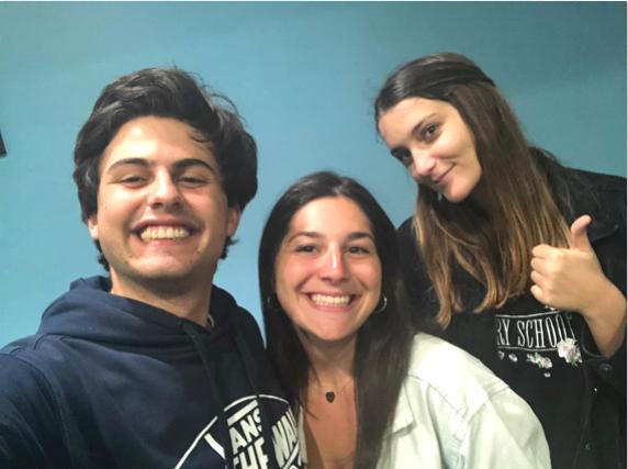 Giorgio, Hannah and Giulia