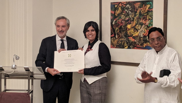 Guarini Institute advisor, Dr. Pratishtha Singh and Italian Ambassador to India H.E. Lorenzo Angeloni