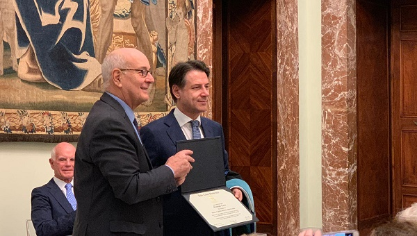 President Franco Pavoncello Presents Honorary Degree to Italian Prime Minister Giuseppe Conte