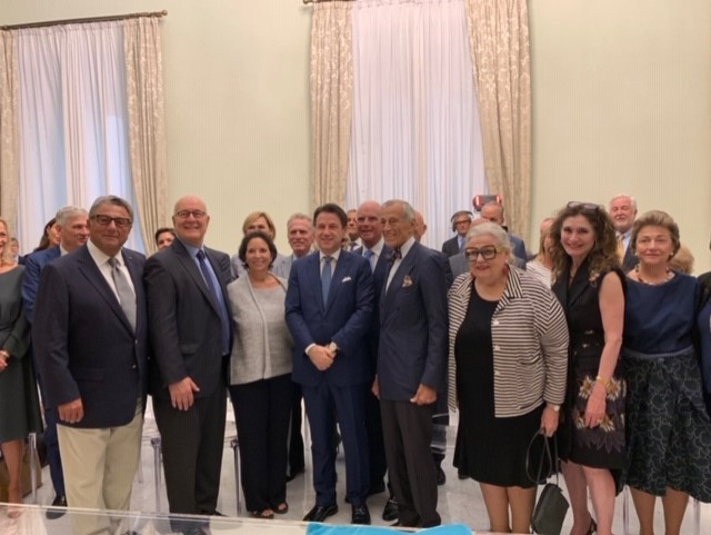 PM Conte with President Pavoncello and JCU Trustees