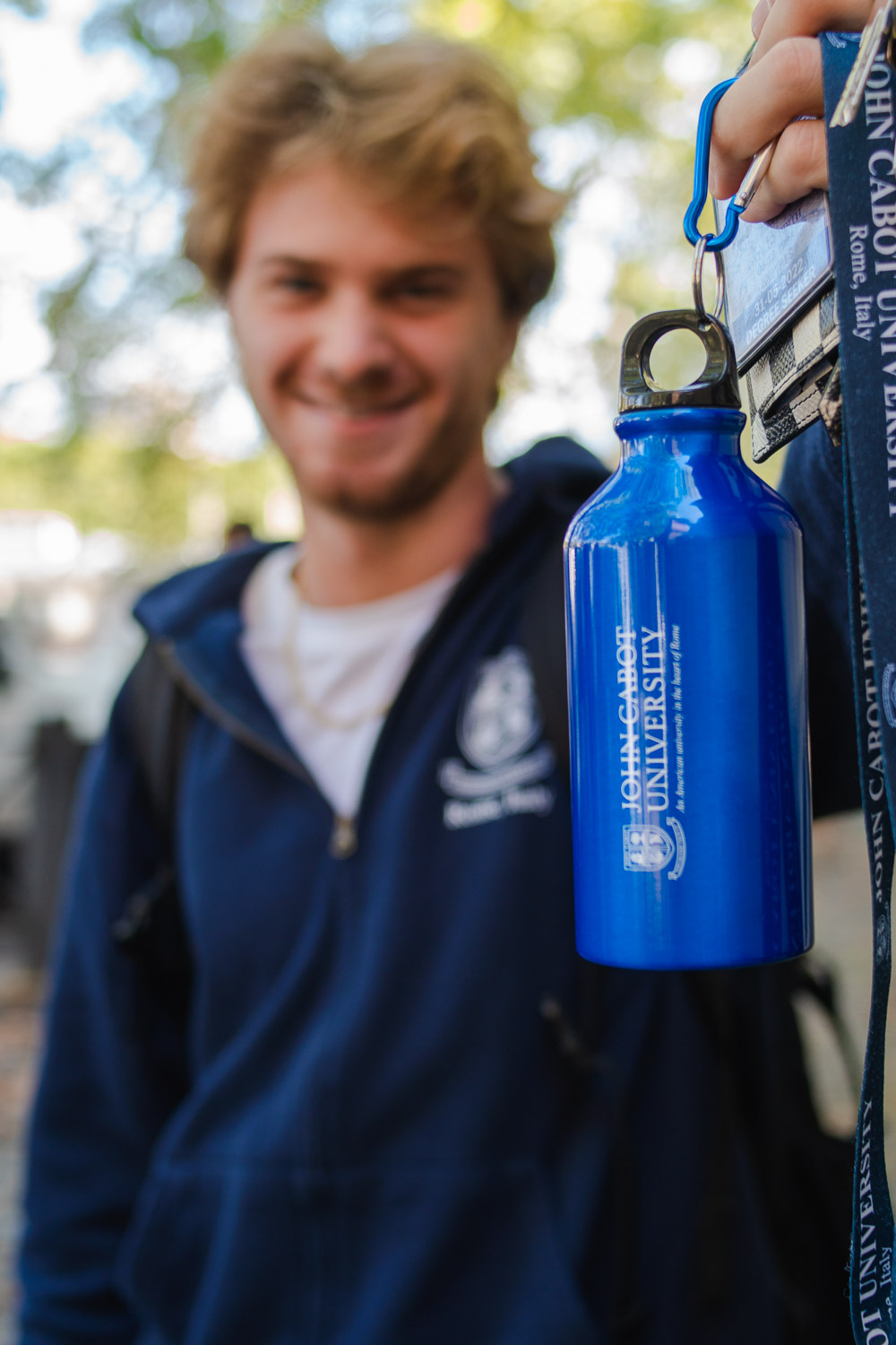 JCU's Water Bottle distributed by Grassroots