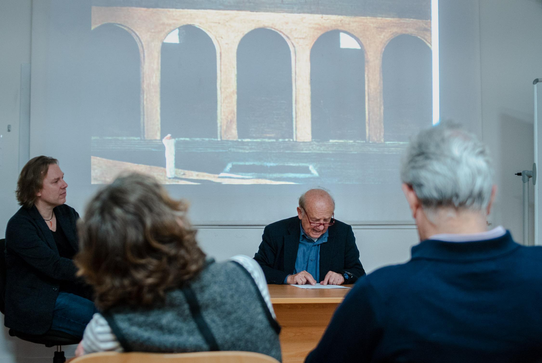 From left: JCU Philosophy Professor Stefan Lorenz Sorgner, Professor Riccardo Dottori