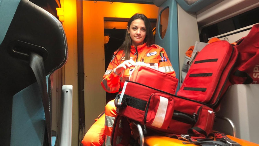 Volunteering in the Heart of the Pandemic: JCU Student and EMT Camilla Santoro
