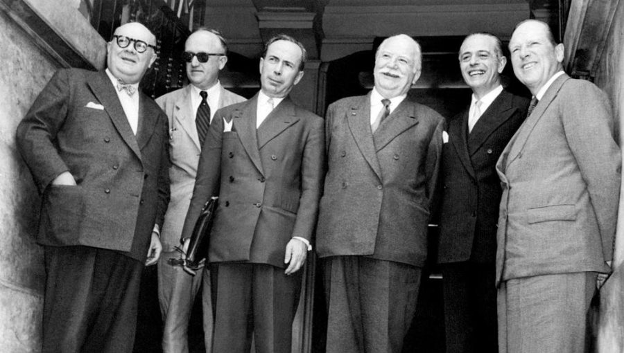 State representatives at the 1955 Messina/Taormina Conference
