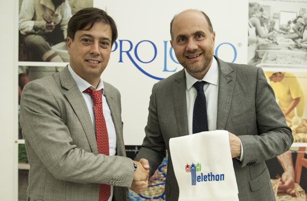 Alessandro Betti (left) Fondazione Telethon