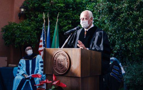 The HonorableStaffan de Mistura addresses the Classes of 2020 and 2021