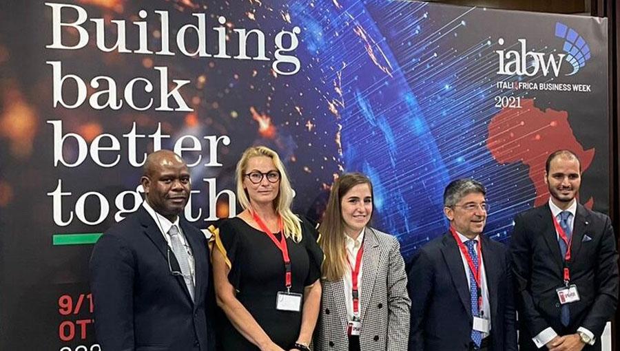 Professor Ieva Jākobsone Bellomi Moderates Panel for Italy Africa Business Week